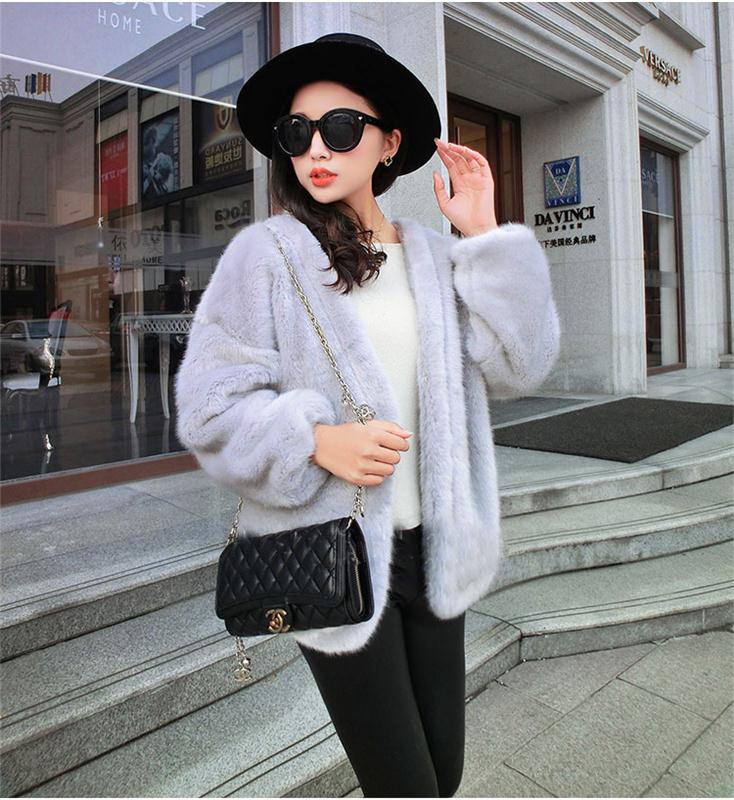 China factory raccoon collar faux fur blazer 2016 winter latest sex women faux mink fur coat