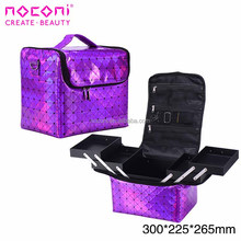 Luxury Professional portable Aluminium makeup train case latest beauty box cosmetic vanity case