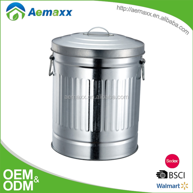 Amazing outlook stainless steel Kitchen Metal compost bin with wheel