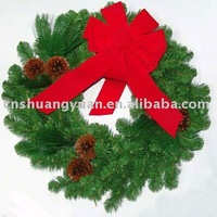 cheap decorated christmas wreath