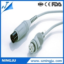 CE approved ge ecg cable 3 leads multi channel transducer mindray dpm6 ibp cable