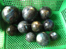 Decorative natural labradorite rainbow crystal Sphere, flash labradorite crystal ball