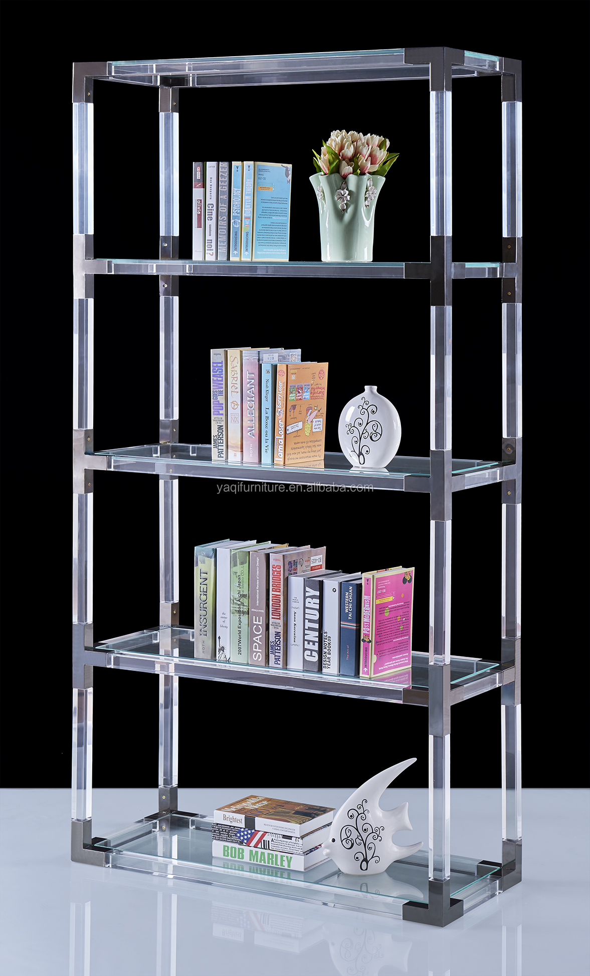 Acrylic bookcase for study room, latest design wonderful book shelf