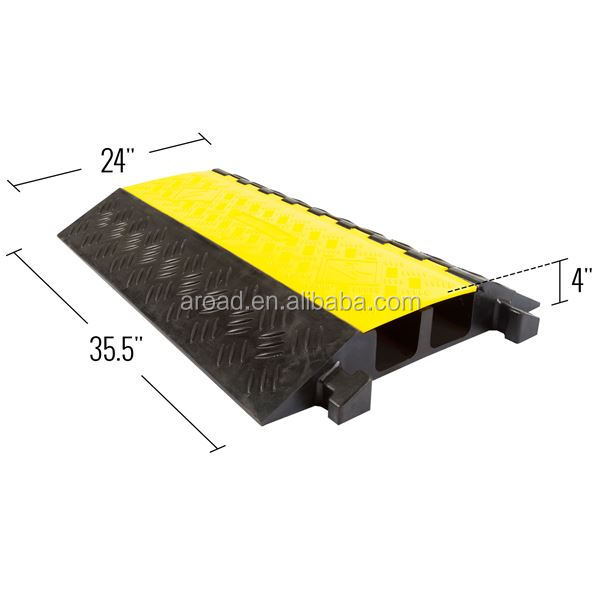 Big 2 Channel Cable Protector Cover,rubber road speed hump