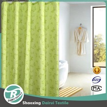 Fancy shower curtains yellow and gray for bathroom