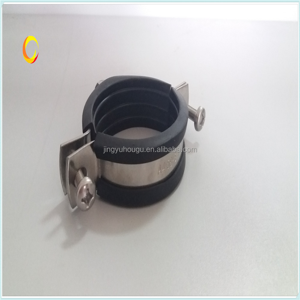 Reinforcement Rib Split Pipe Clamp With Rubber