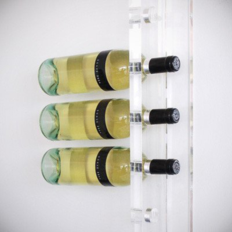 wall mounted acrylic wine display rack , acrylic wine bottle holder
