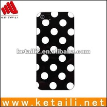 2013 fashion design polka dot cosmetic case for iphone 5g