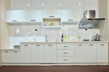 modern style white color modular Kitchen Cabinet