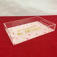 Whosale hotel supply Customized durable neon acrylic tray