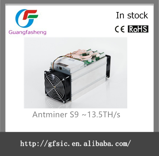 Antminer s9 ~ 13.5TH/s @ 0.098 واط/16nm gh asic bitcoin مينر