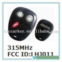 Top quality key case or cover for Chevrolet 2+1 Button Remote Control 315MH FCC ID: LHJ011 Car Key Shell