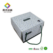 Grid printed food packaging carton / birthday cake box /