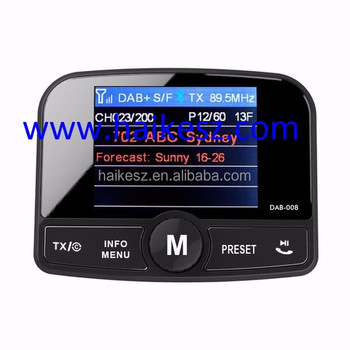"2.4"" TFT In Car Color Display Service linking DAB car radio"
