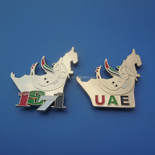 UAE Map and 1971 combined gold metal badges for National Day Gifts