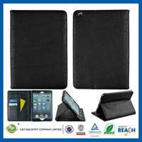 2014 delicate style new design for ipad air leather standing case with card solt