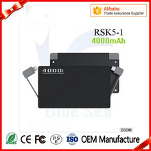 Electronic gadgets solar power banks power bank mobile with low price RSK5-