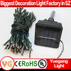 Wholesale high quality solar decoration light 22m 200leds outdoor solar christmas ball hanging light with CE ROHS certification