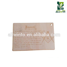 2018 new design OEM wooden post card