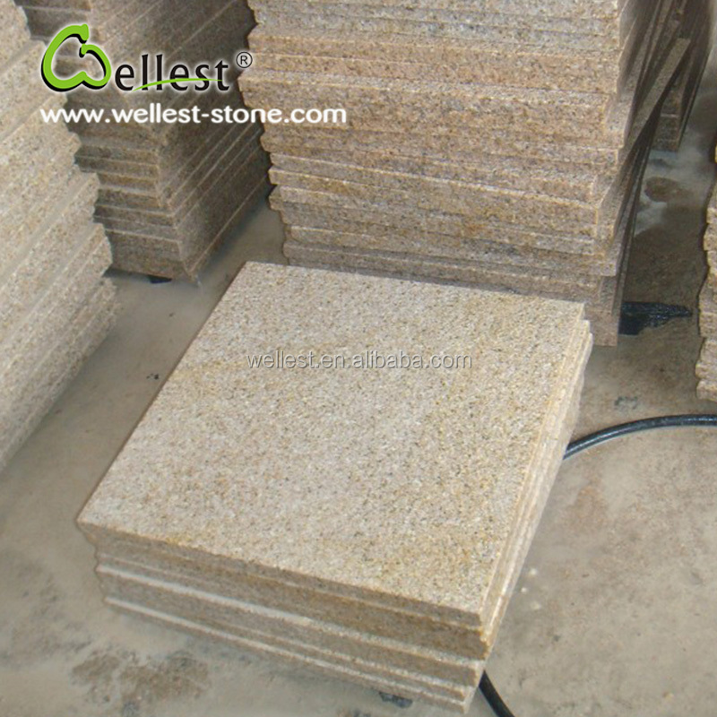 Bush Hammered G682 Sunset Gold Yellow Granite Floor Wall Tile