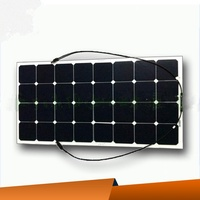 High Efficiency yatch,camping,caravan use single crystal sunpower flodbale flexible solar panel cell 100W