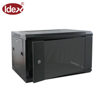 Wall mount locking network cabinet 6U Data server rack with cooling