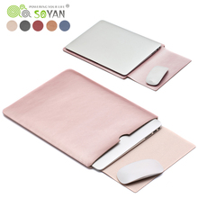 Wholesale Laptop leather bags practical waterproof Notebook Case For Macbook Air 13 case Pro 11.6/12/15 inch Laptop Sleeve Case
