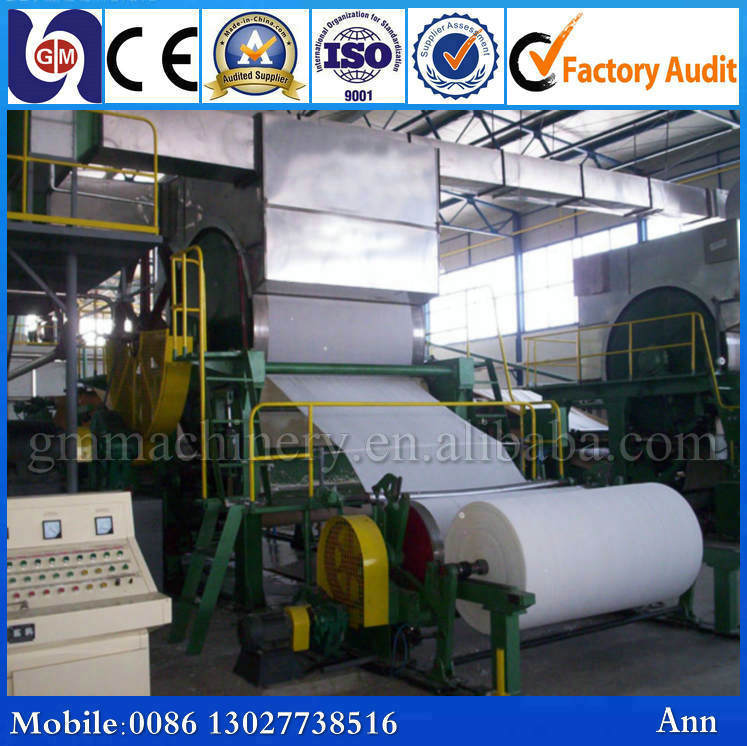 Low price GM-787mm 1TPD toilet tissue paper making machine, recycled paper making machine, paper pulper machine
