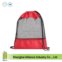 newest promotional wholesale cheap nylon mesh drawstring bags