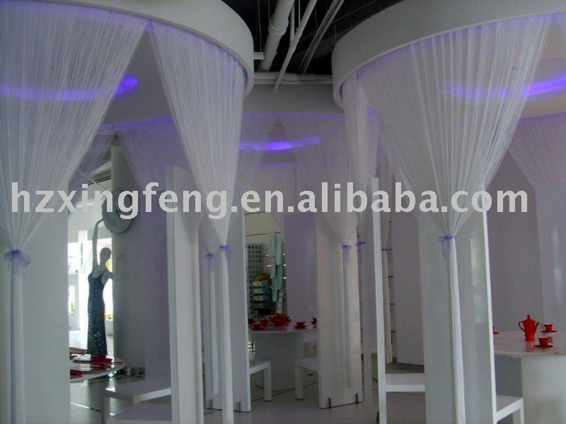 Single color string curtain