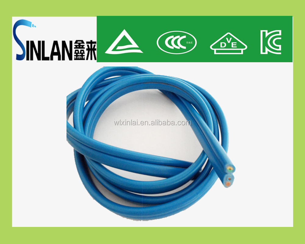 blue Flex flat power cable submersible deep well pump cable