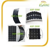 High Efficiency Sunpower Cell 100W Semi Flexible Solar Panel
