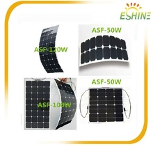 High Efficiency Sunpower Cell 100W Semi Flexible Solar Panel