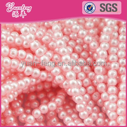 craft beads Wholesale 10mm Pink plastic beads string In Bulk For Jewelry Making