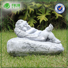 Resin Lying Cupid Antique Angel Statue