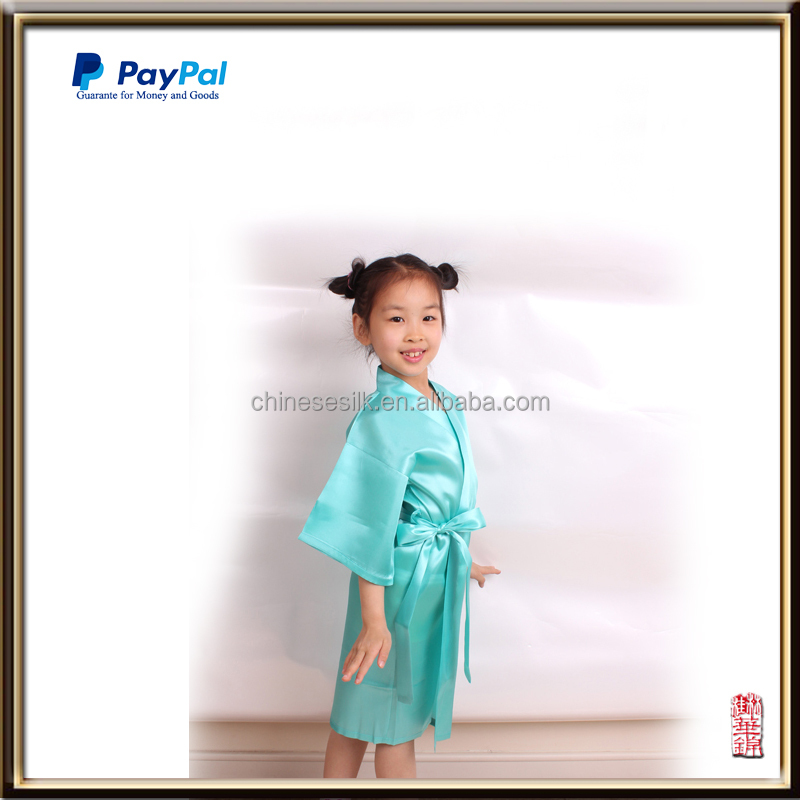 Wholesale Chinese traditional kids apparel children's satin robe