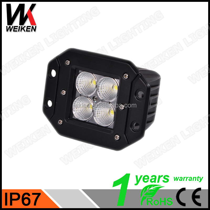 WEIKEN 3.2 Inch RGB remote control Truck Offroad Amber 12W Auto LED Work Light led fog lights
