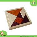 Colored Wooden Trangram Puzzle Kids puzzle toy for sale