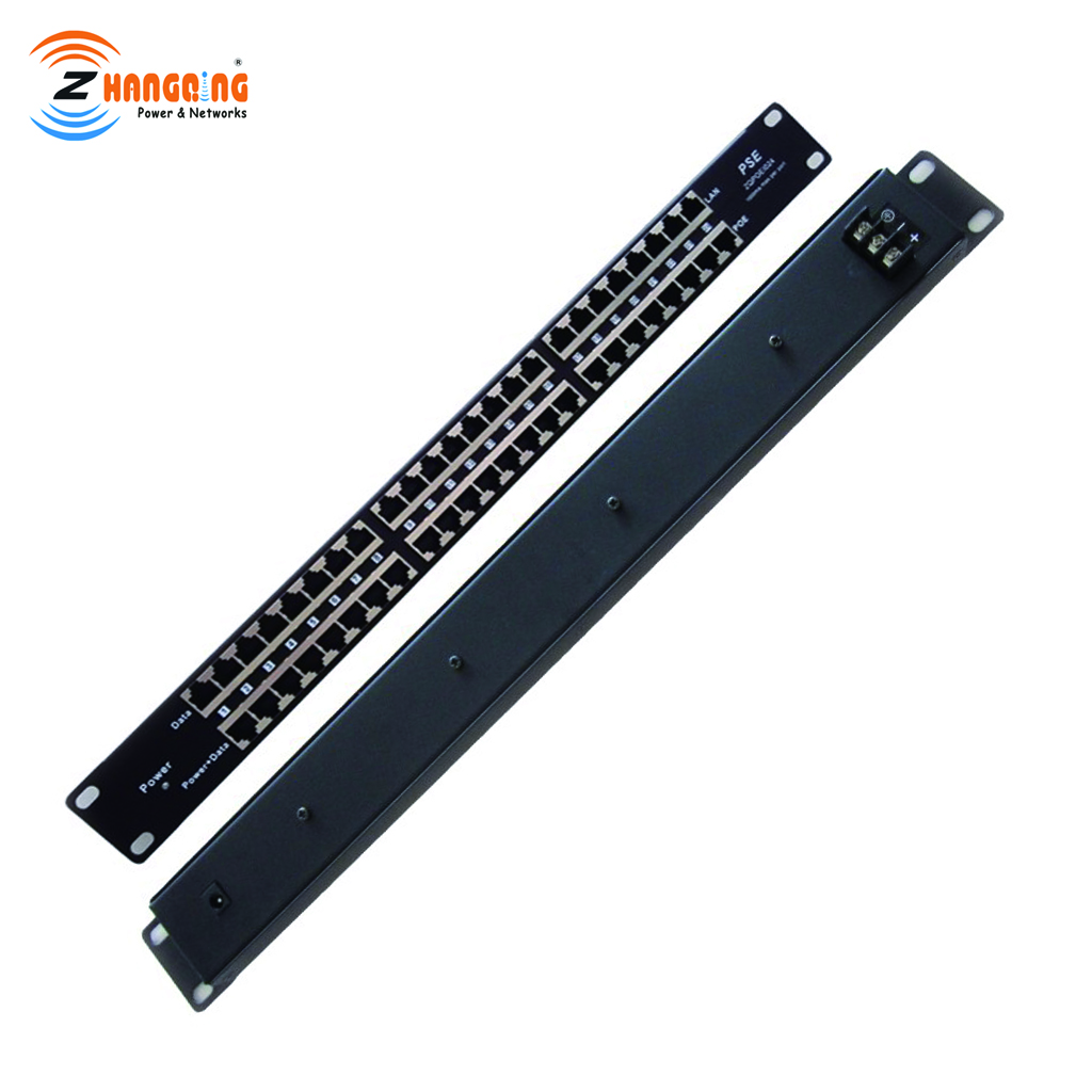 24 Port POE Injector Mid-span Passive POE Patch Panel, power 24 10/100 devices from one supply 12vto56v, rack mount PoE injector