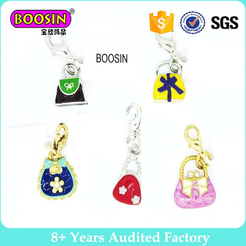 Wholesale bulk handbags charms samll enamel charms for women handbag