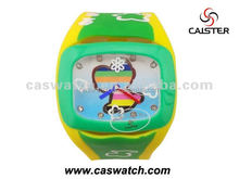 Multi color kids Silicone Rubber band watch OEM Children's quartz watch