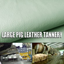 white color split waxed pig skin diamond white skin carving pattern leather for genuine mink fur blanket