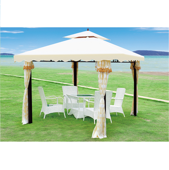 3x3m Iron Frame Garden Gazebo With Mosquito Netting