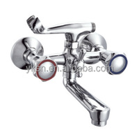 New Bathroom Bath Basin Wall Mounted Hand Rain Shower Head Mixer Tap Faucet with china factory