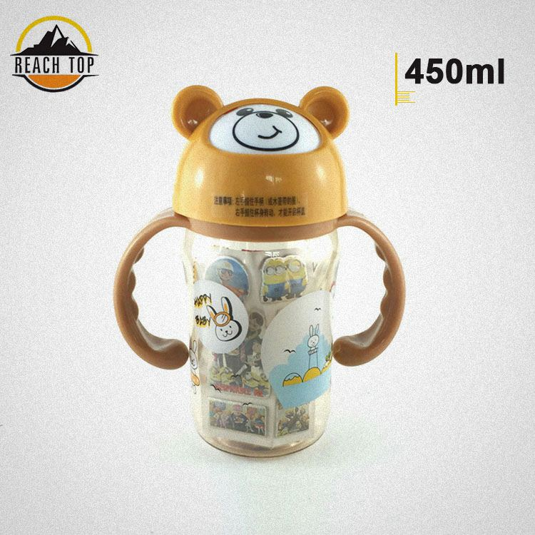 2017 new animal space cup water bottle for children foldable measuring cup