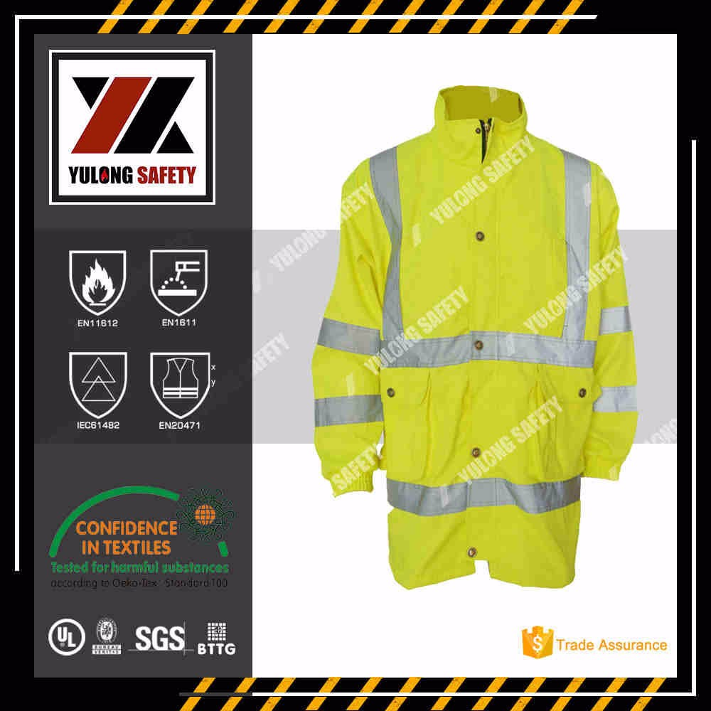 EN20471 Flame Retardant Reflective High Visibility Jacket