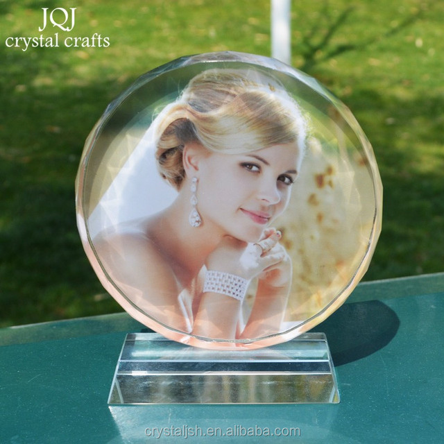3D Laser Engraved Crystal Trophy Photos Frame for Anniversary Picture Frames Gift