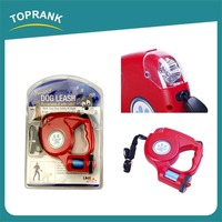 Free Sample Provide Cheap Wholesale Retractable Dog Leash With Flashlight And Bag