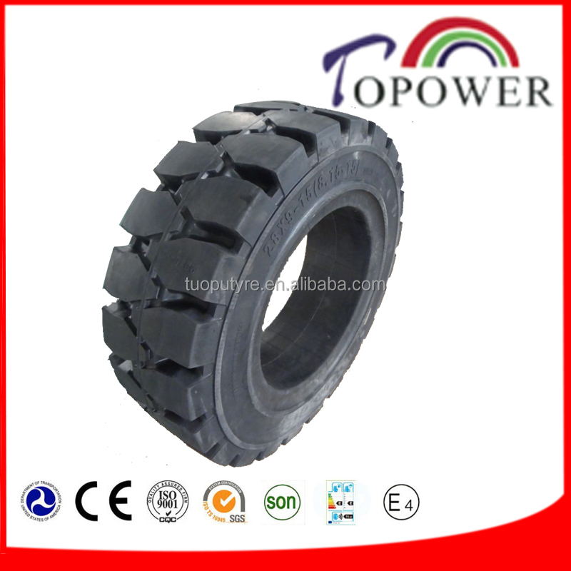 resilient tires 8.15-15, solid tyre forklift tire 28x9-15 for Genie forklift