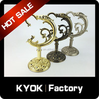 KYOK Decorative Brackets, Metal Curtain Pole Brackets, Durable Drapery Rod Wall Brackets